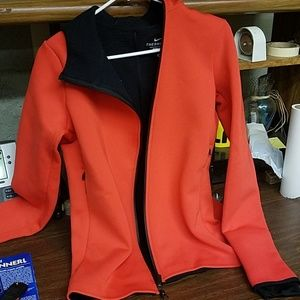 Red and black nike jacket